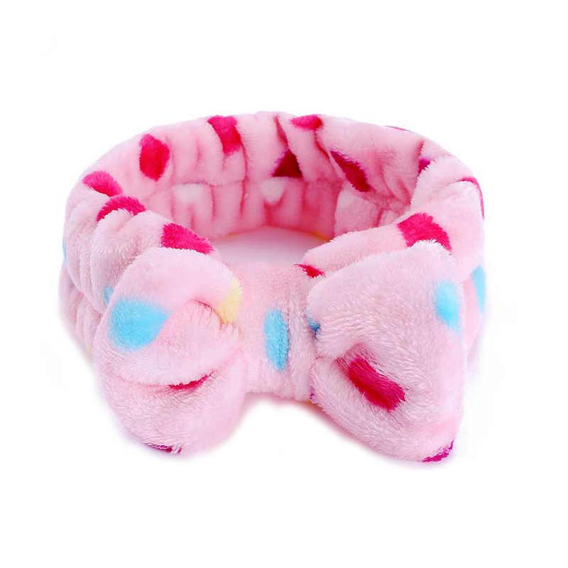 1 unid invierno Scrunchies Coral diadema de tela polar Bow Hairbands Crossed Bunny Ear Elastic bandas para el cabello mujeres suave accesorios para el cabello