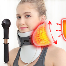 Medical Neck Traction Device Cervical Spondylosis Neck Brace Inflatable Support Intelligent Control Stretch Fix Post Corrector three layers cervical neck traction apparatus inflatable velvet neck guard portable adjustable neck brace support health care