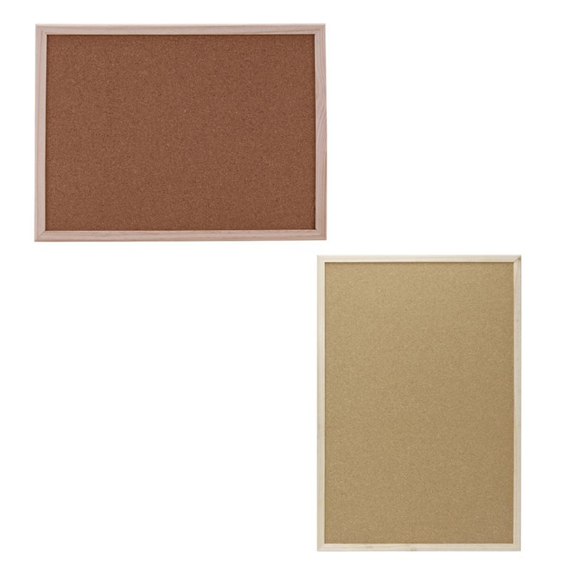 Cork Board Drawing Board Pine Wood Frame White Boards Home Office Decorative