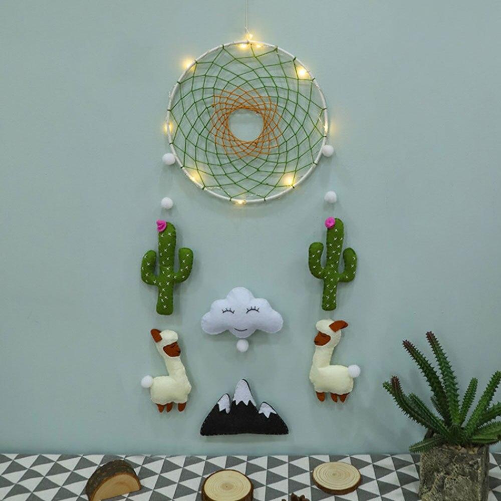DIY Handcraft Non-Woven Dream Catcher Flower Felt Making Kit Handmade Cactus Bed Bell Toy For Children's Room Home Decor Toys 15