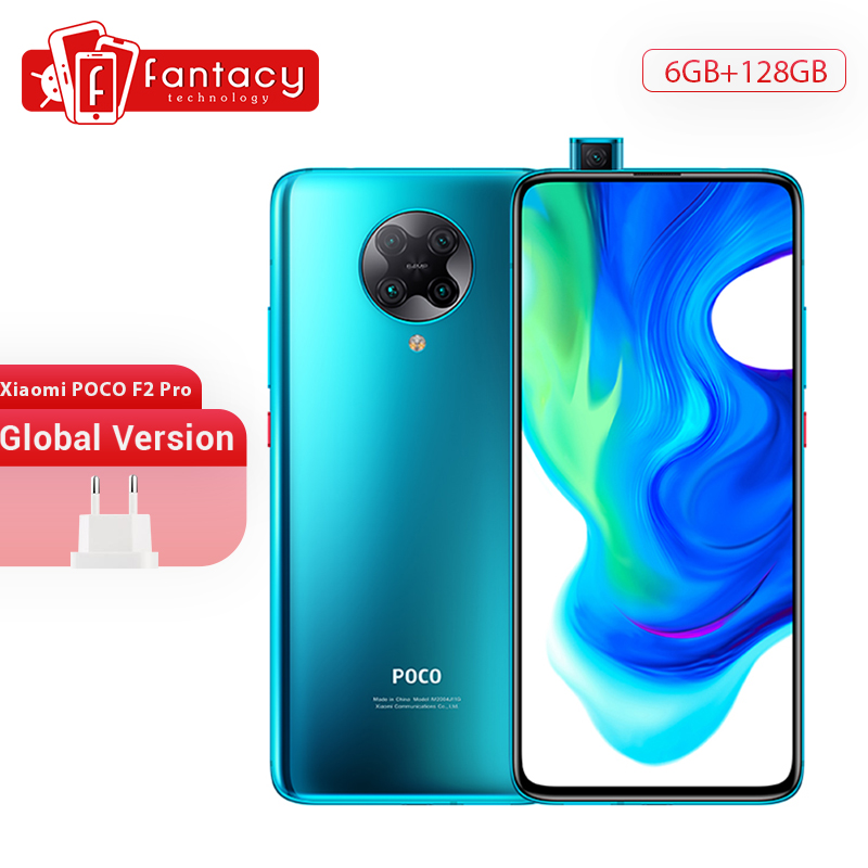"Global Version Xiaomi POCO F2 Pro 5G Smartphone 6G 128G Snapdragon 865 64MP Quad Camera 6.67"" AMOLED Screen Cellphone 4700mAh"