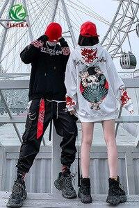Image 5 - 2019 Thu Đông Phong Cách Nhật Bản Ca Sĩ Khoai Môn Hoa Áo Hoodie Nam Nữ Hip Hop Lớn Cotton Retro Thời Trang Áo