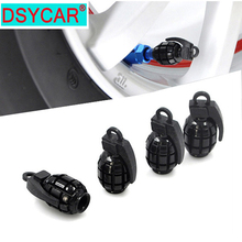 4pcs/lot Metal Grenade Design Car Motorcycle Bike Tire tyre valve dust caps цена