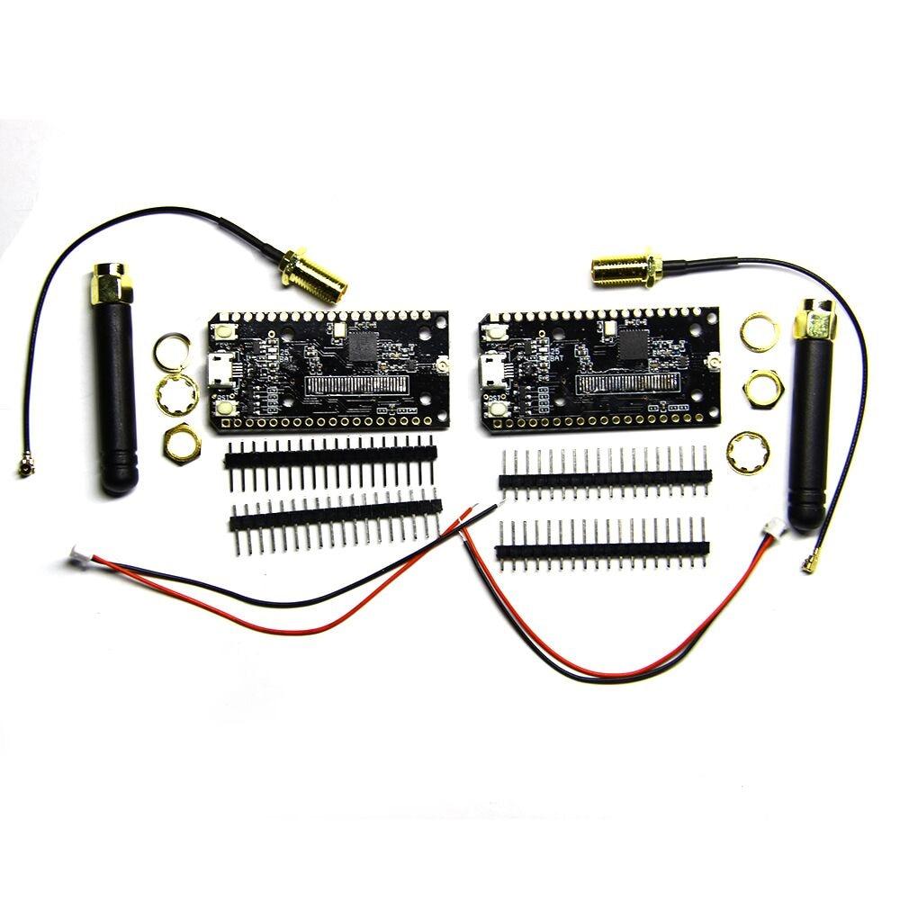 TTGO 2Pcs lot ESP32 SX1276 LoRa 868   915MHz Bluetooth WI-FI Lora Internet Antenna Development Board For Arduino