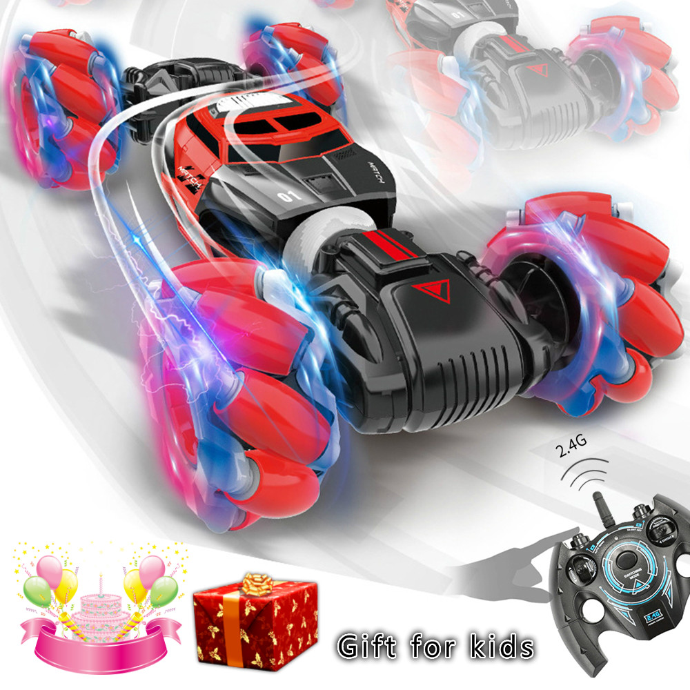 RC Stunt Car 1:16 4WD Light Music High Speed Tumble Crawler Vehicle Twisting Vehicle Drift Car Rotating Tumbling Gifts For Boy