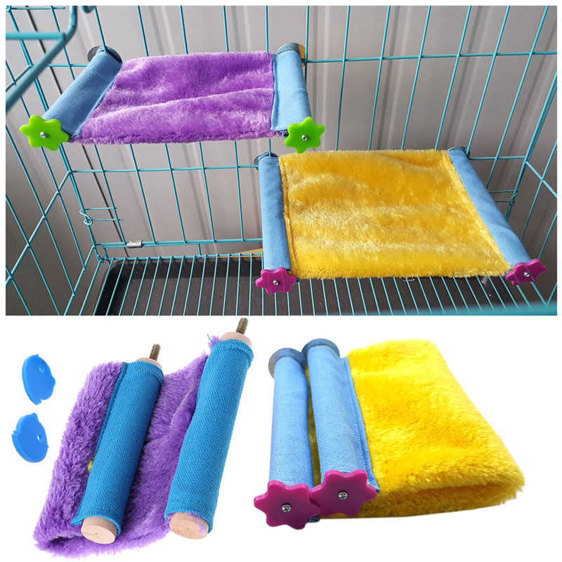 Warm Bird Parrot Nest Hammock Birds Cockatiel Hamster Chinchilla Cage Sleeping Bed Small Pet Birds Supplies S/L C42
