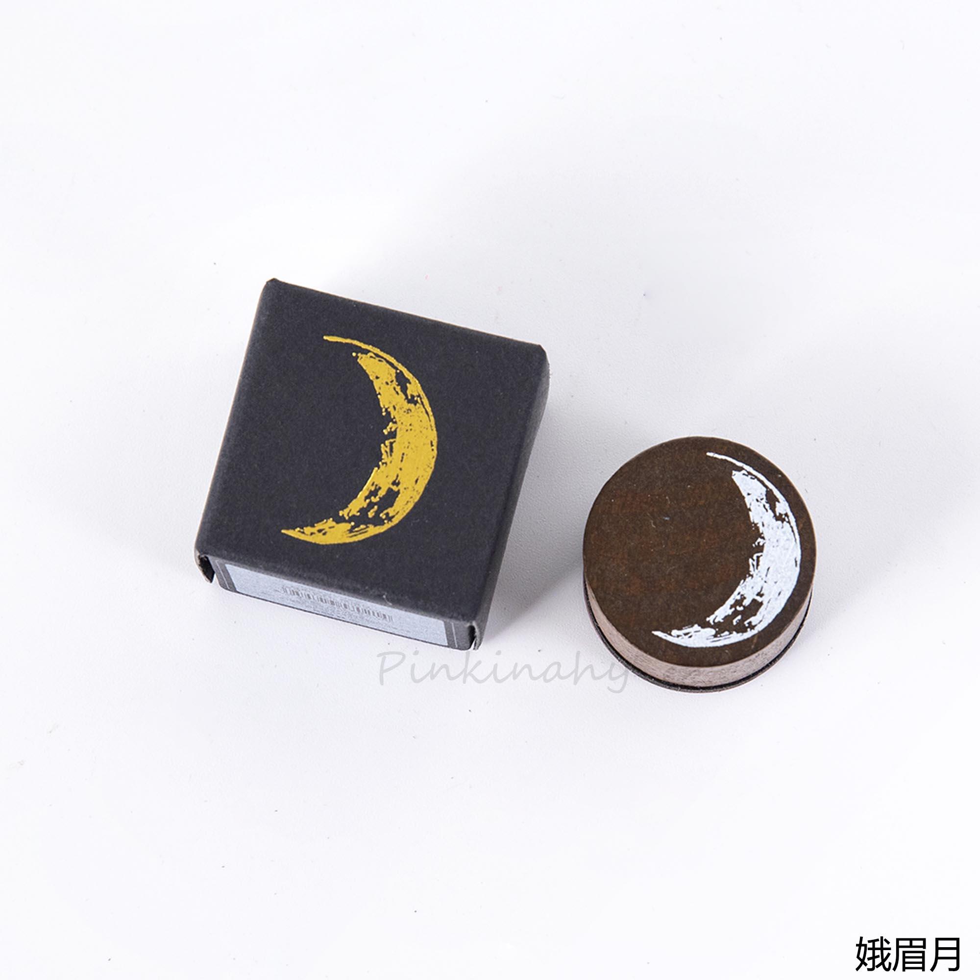 Винтажная фаза Луны деревянная печать планировщик деревянная резиновая печать набор для DIY Скрапбукинг Украшение для открыток тиснение ремесло - Цвет: 2