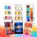 6 цветов Металлические акварельные краски в наборе Золотая краска перламутровая Акварельная пигмент для живописи товары для рукоделия