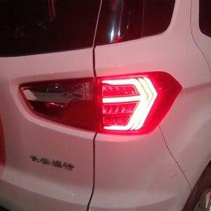 Image 2 - 2PCSไฟท้ายLEDสำหรับFord Ecosport 2013   2018 2019รถLEDกันชนด้านหลังไฟเบรคLED autoหลอดไฟตกแต่งโคมไฟ