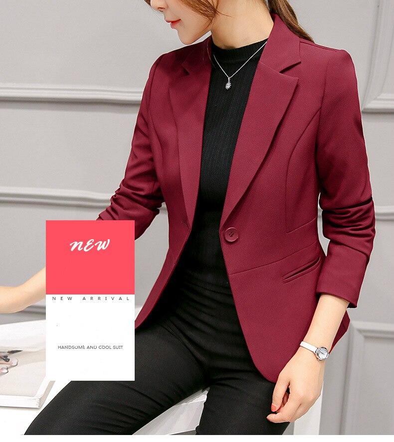 Black Women Blazer Formal Blazers Lady Office Work Suit Pockets Jackets Coat Slim Black Women Blazer Femme Jackets 17
