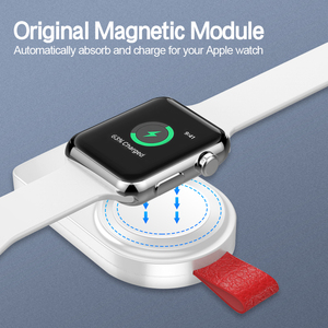 Image 3 - WK מיני אלחוטי מטען עבור אפל שעון סדרת 4 3 2 1 נייד מהיר מגנטי USB מטען לא מטען כבל מהיר תשלום Dock
