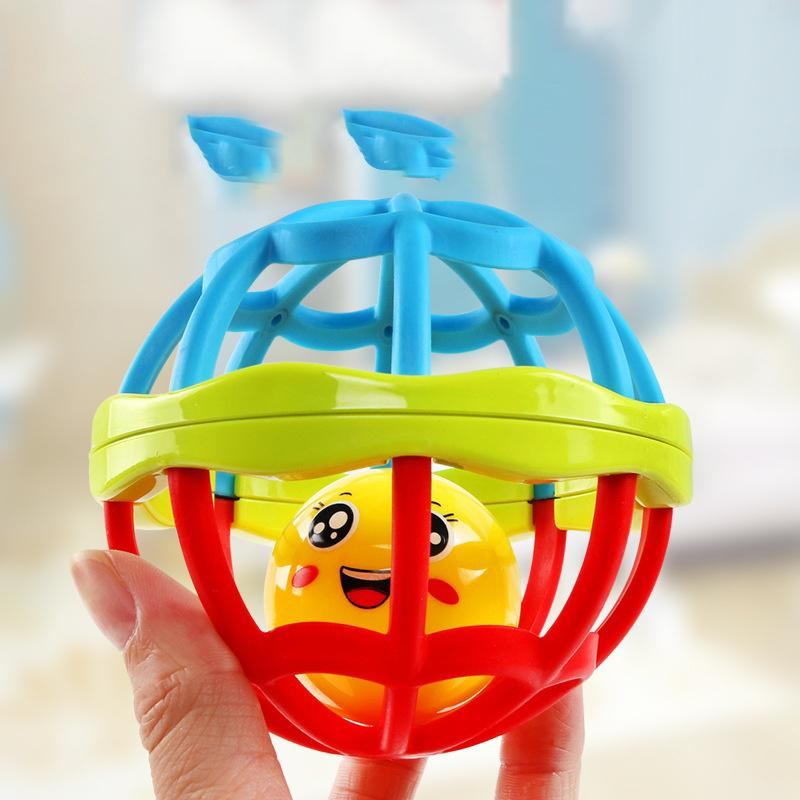 Soft Plastic Baby Grasping Bell Ball Toys Rattles Sound Educational Rolling Balls Infant Toddler Teether Toy Z332 in Toy Balls from Toys Hobbies
