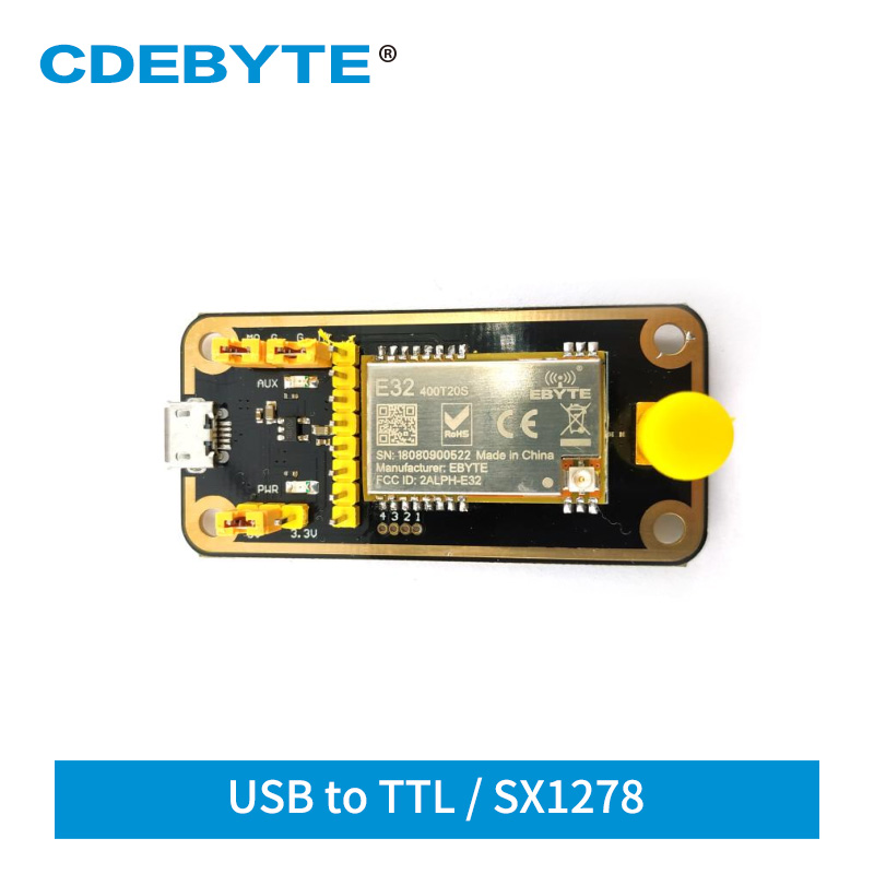 E32-400TBL-01 SX1278 LoRa USB Test Board For 433MHz 470MHz E32 E32-400T20S IoT Transceiver