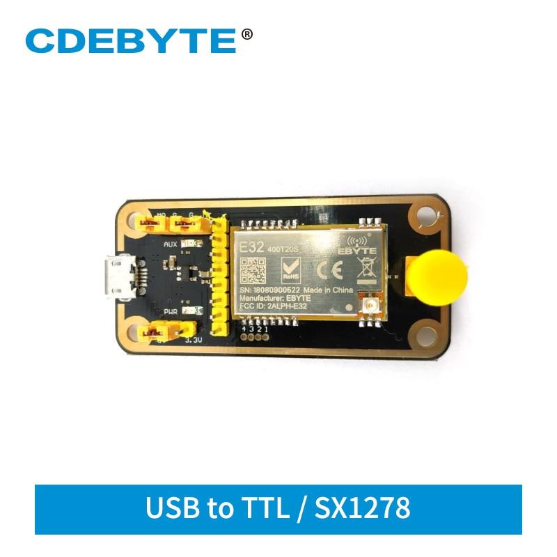 E32-400TBL-01 SX1278 LoRa USB Test Board For 433MHz 470MHz E32 E32-400T20S IoT Transceiver