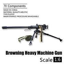 1:6 Browning M2 ciężka maszyna pistolet 4D 1/6 skala pistolet Model US Army elastyczne broń zabawki dla żołnierza figurka Accesssories