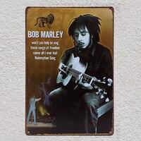 Боб Марли гитарист певец музыка гараж магазин жестяные таблички стена человек пещера Украшение Искусство ретро, ВИНТАЖНЫЙ ПЛАКАТ металл