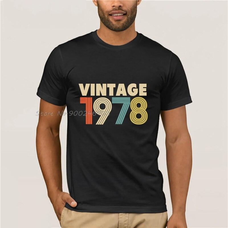 Camisa do vintage 1978 mode 40th verjaardagscadeau t 80 s bedrukte t-shirts de algodão masculino topos anime harajuku streetwear