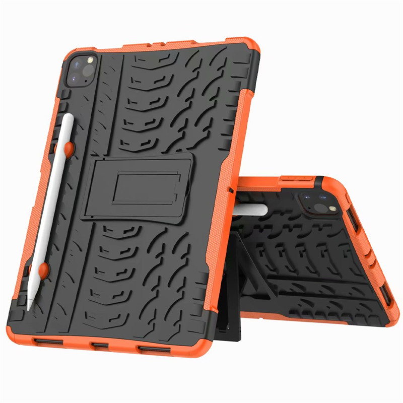 Orange Orange Shockproof Armor Case For New iPad Pro 11 2020 Case With Pencil Holder Flip Stand Cover