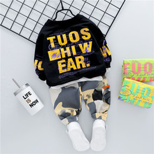 LISUNNY Baby Girls Boys Clothing Sets 2020 Autumn T Shirt Camouflage Pants Inafnt Newborn Clothes Kids Children Clothes(China)