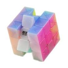 Qiyi guerreiro w 3x3x3 velocidade cubo stickerless transparente profissional mágico quebra-cabeças brinquedos educativos coloridos para crianças