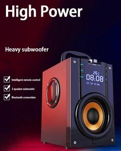 Image 5 - 2200mAh 4.2 무선 블루투스 스피커 야외 LED 디스플레이 3D 서라운드 스테레오 서브 우퍼 플레이어 라디오 알람 시계 TF FM AUX 카드