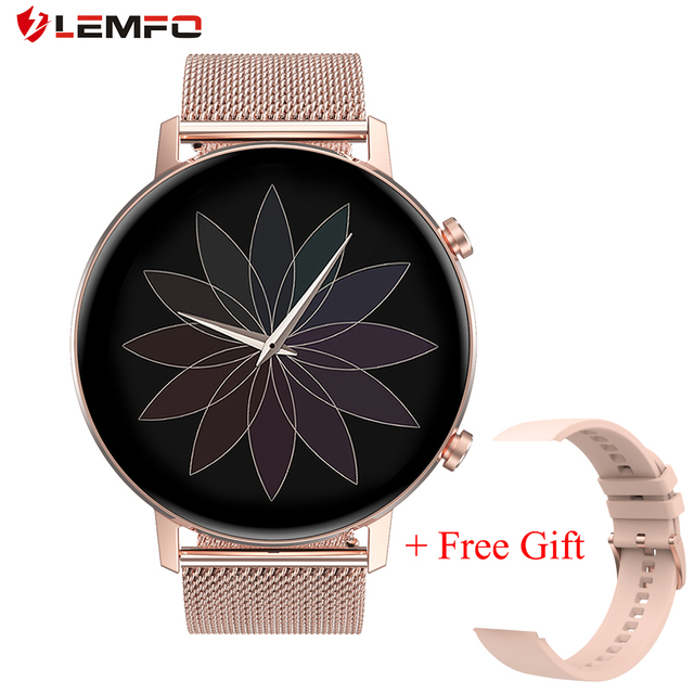 LEMFO Smart Watch Women DT96 360*360 Resolution IP67 Heart Rate Blood Pressure Oxygen Women Smartwatch for Android iOS Phone 1