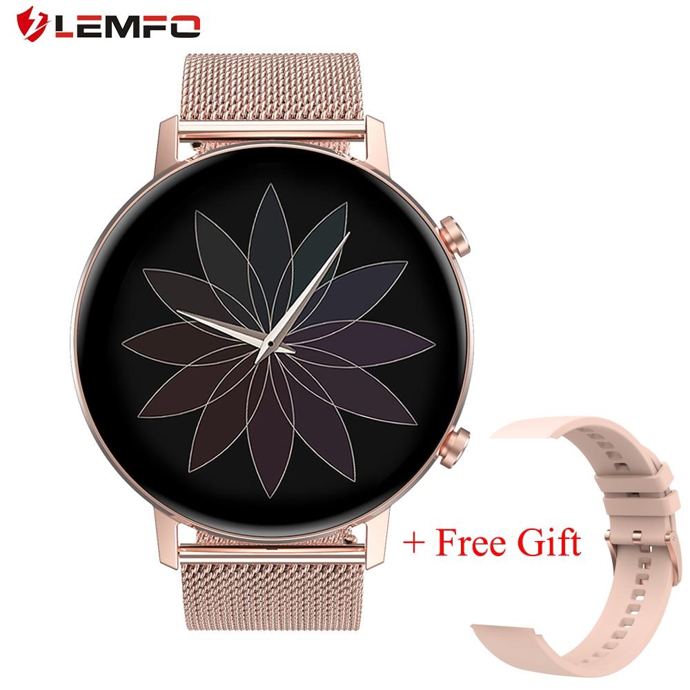 LEMFO montre intelligente femmes DT96 360*360 résolution IP67 fréquence cardiaque pression artérielle oxygène femmes Smartwatch pour téléphone Android iOS