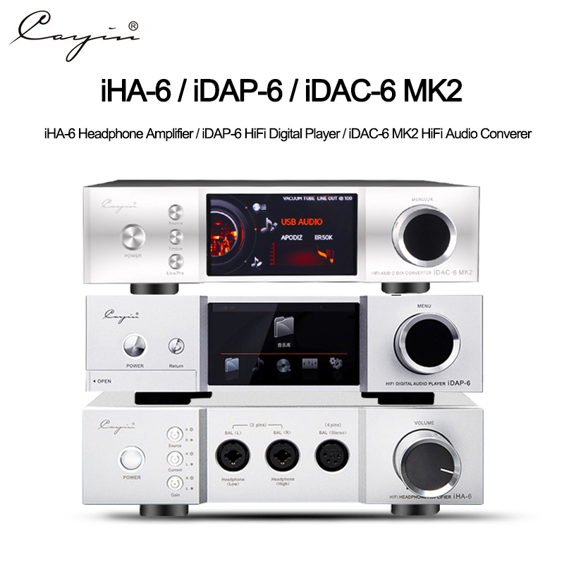 Cayin IHA6 IDAP6 IDAC6 MKii Audio Decoder Full Balanced Desk Headphone HIFI Tube Amplifier AMPs Aluminum Enclosure Quloos 666SET