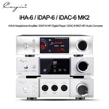 Cayin iHA6 iDAP6 iDAC6 MKii אודיו מפענח מלא מאוזן שולחן אוזניות HIFI צינור מגבר אמפר אלומיניום מארז Quloos 666 סט