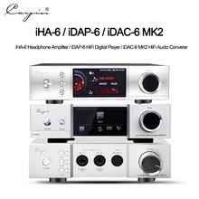 Cayin iha6 idap6 idac6 mkii decodificador de áudio completo balanceado mesa fone ouvido amplificador tubo de alta fidelidade amplificadores gabinete alumínio quloos 666 conjunto