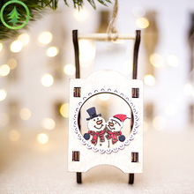 Santa Claus Snowman New Year Natural Wood Christmas Tree Ornament Pendant Hanging Gift Decoration Home 2020