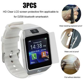 3Pcs/Set HD Clear Transparent LCD Screen Protector Films Cover for DZ09 Bluetooth Smart Watch For IO