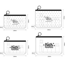 Vogvigo Transparent PVC Long Waterproof Bag Travel Acceptance Data Line Pen Washing Cosmetic Storage Organiser