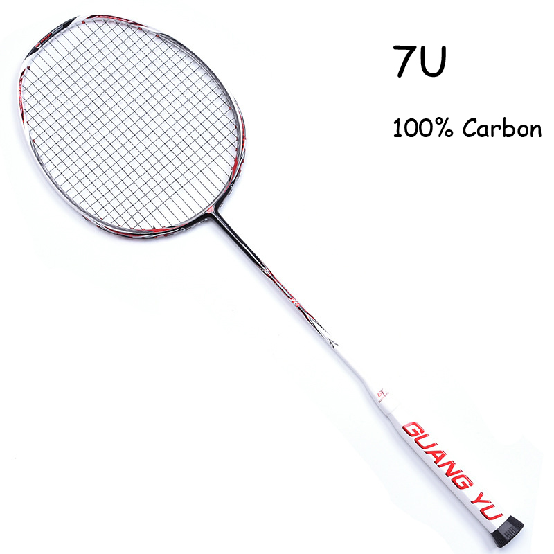 7U Badminton Racket Professional Ultra Light Multicolor 67g Carbon Fiber Frame With Rope Bag Overgrip Offensive Raqueta 24-30LBS