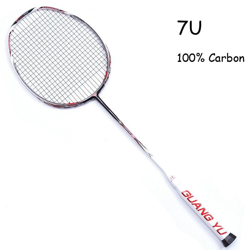 7U Badminton Racket Professional Ultra Light Multicolor 67g Carbon Fiber Frame With Rope Bag Overgrip Offensive Raqueta 24-30LBS