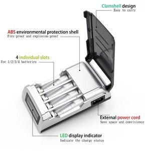 Image 4 - PALO LCD Display 4 Slots Smart Intelligente AA Batterie Ladegerät Für 1,2 V AA / AAA Ni CD Ni Mh akkus