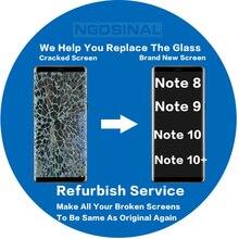 תיקון שירות לסמסונג גלקסי הערה 8 9 10 בתוספת לשפץ לשפץ מגע מסך LCD תצוגה סדוק זכוכית Digitizer לחדש