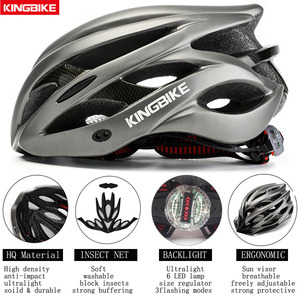 Image 3 - KINGBIKE HOT Bicycle Helmet Men Women MTB Road Cycling Helmets Ultralight Integrally molded EPS+PC Bike helmet Capacete Ciclismo