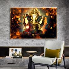 Dei indù Lord Ganesha dipinti su tela poster e stampe classici induismo immagini per pareti per soggiorno Decor
