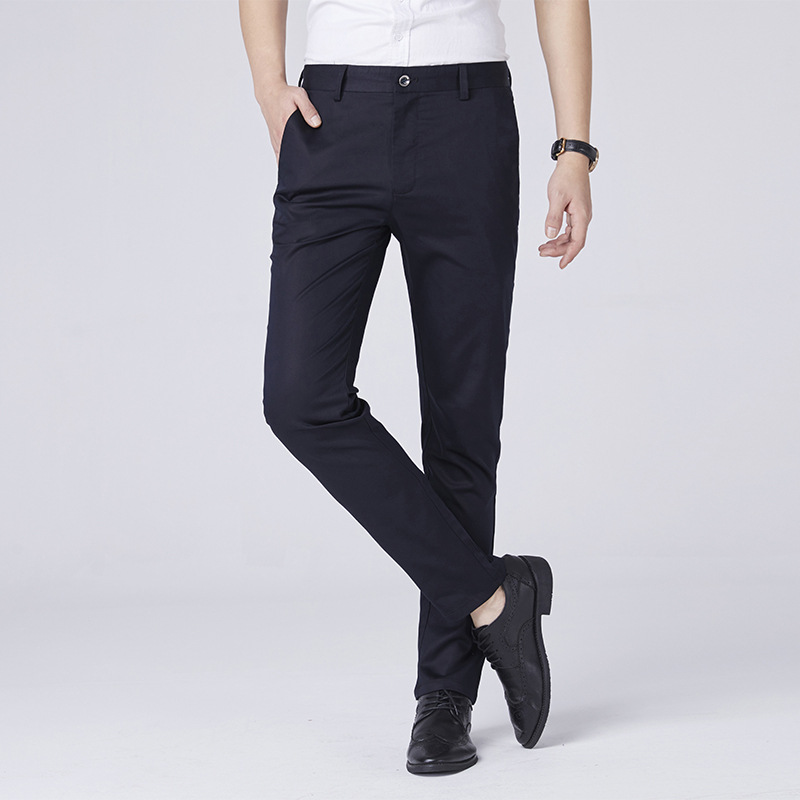 2019 Spring Summer New Style Men Fashion Casual Pants Business Simple Straight-Cut Large Size Trousers Men'S Wear