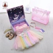 Yoliyolei/Подарочная коробка; Комплект с платьем для девочек;