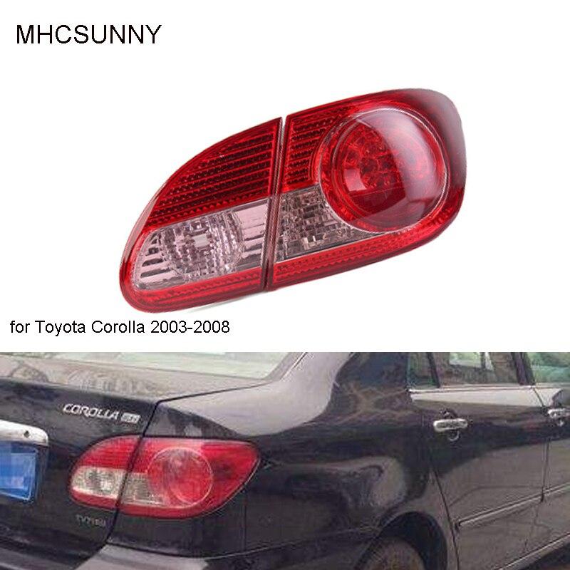 Задний светильник, задний тормозной светильник, красный чехол для Toyota Corolla 2003-2008, автомобильный светильник, стильный корпус без лампы