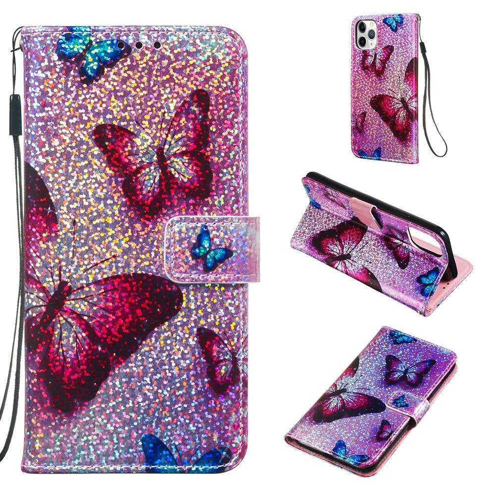 Étui pour iphone 11 X Xs Xsmax XR étui à rabat en cuir à motifs paillettes pour téléphone portable pour iphone 11 pro max 2019