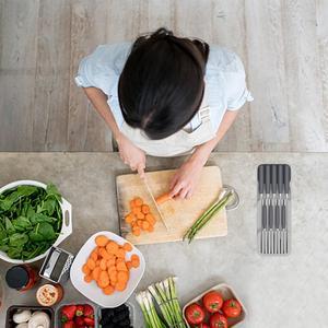 2019 küche Schublade Organizer Fach Rack Löffel Gabel Besteck Trennung Lagerung Box Raum Saving Hause Küche Gadgets Organizer