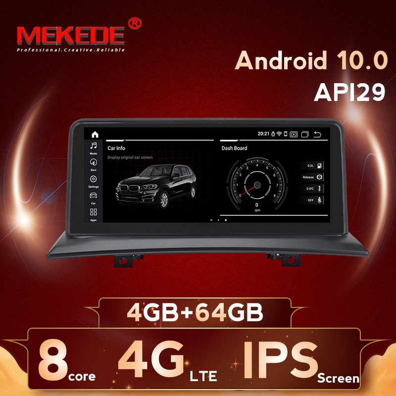 MEKEDE 2din Car Multimedia player 8 Core Android 10.0 Car gps navigation radio for <font><b>BMW</b></font> X3 E83 2004-2010 4+64G 4G lte WIFI BT image
