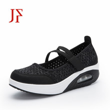 women flat shoes woven mesh womens JF non-slip sneakers Summer new thick-soled shallow air cushion