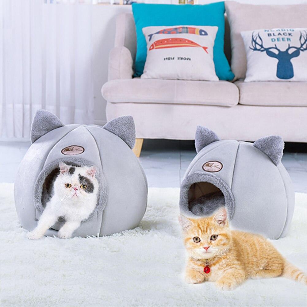 Soft Cat House Gift Pet Bed Kennel Dog Round Cat Winter Warm Sleeping Bag Puppy Cushion Mat Portable Cat Supplies Puppy Caves|Cat Beds & Mats|   - AliExpress