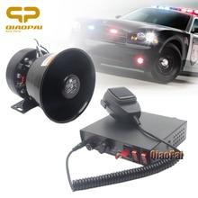 12V Car Alarm Horn 400W Speaker Police Siren Tone Warning Sound Auto MIC System Train Vehicle Electrionic Volume Adjustable