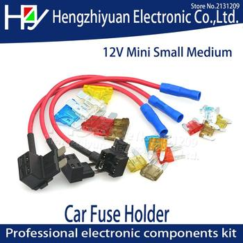 цена на TAP Adapter with 10A Micro Mini Standard ATM Blade Fuse 12V MINI SMALL MEDIUM Size Car Fuse Holder Add-a-circuit Piggy Back Fuse
