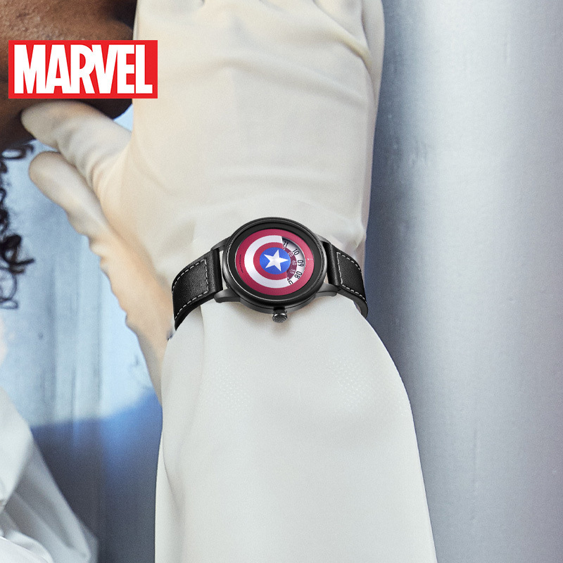 US $45.78 31% OFF|MARVEL Avengers Captain America Men Fashion Cool Super Hero Sports Watch Waterproof Teen Boy Selfdom Time Clock Montre Homme